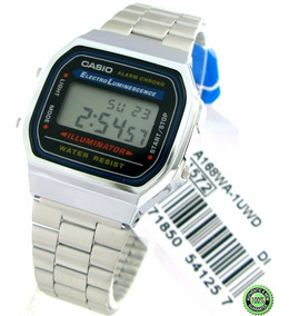 Plateado Reloj A168 Digital Casio Unisex 100Original R35AjL4
