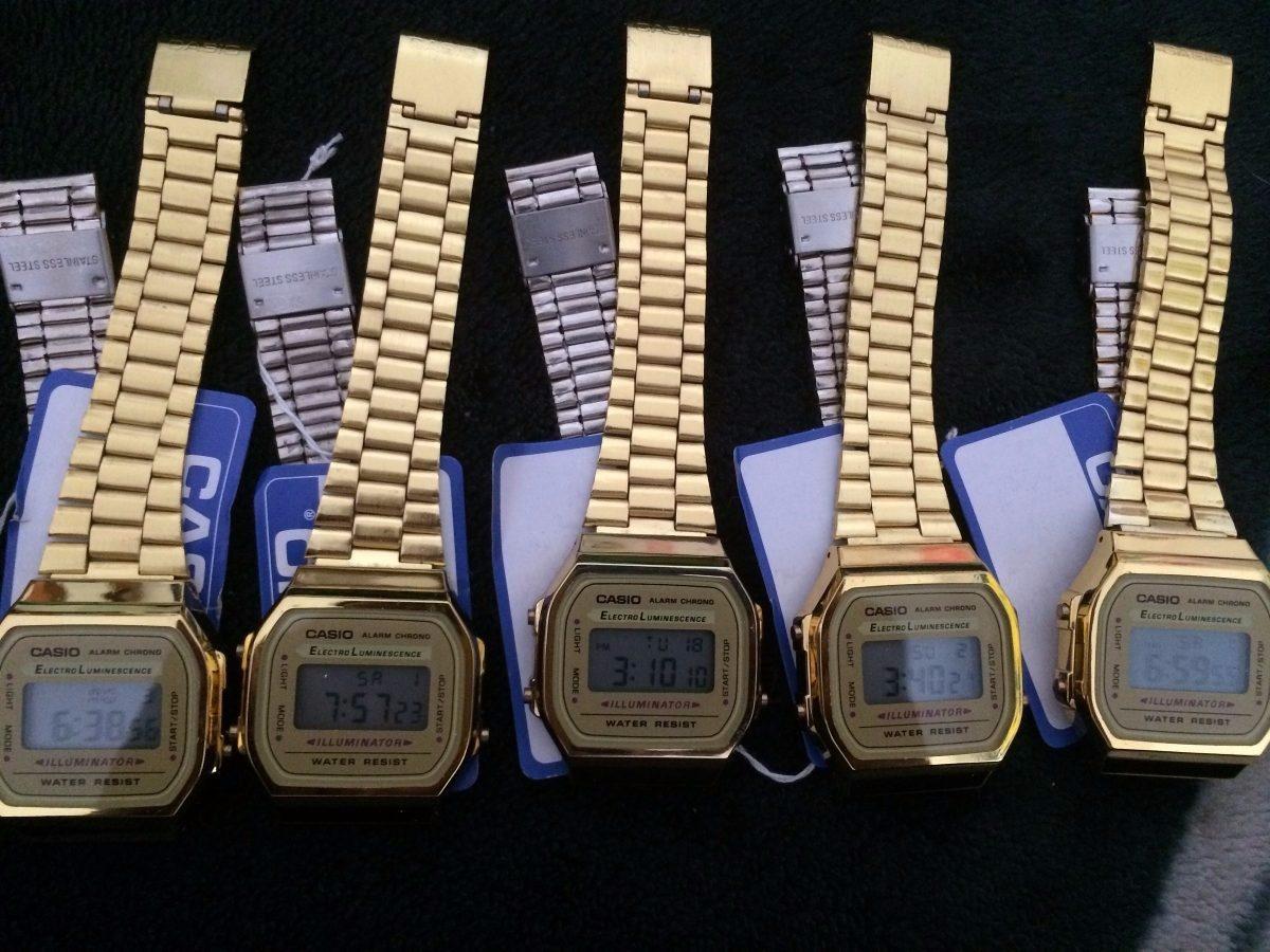 34e9b060c4f7 Reloj Casio Dorado A168 Con Caja -   429.00 en Mercado Libre