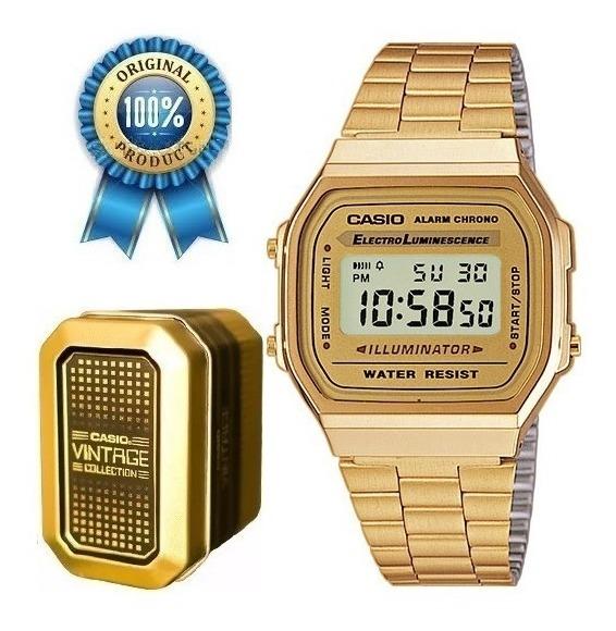 6a6810066 Reloj Casio Dorado A168 Retro Vintage Estuche Metalico - $ 1,299.00 ...