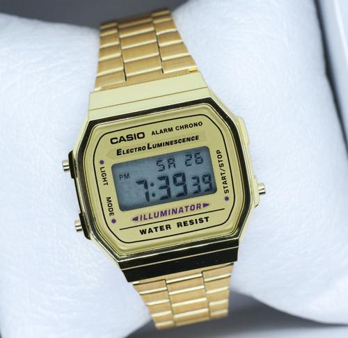 reloj casio dorado a168 vintage envío gratis