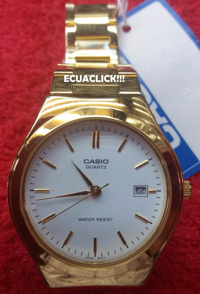 0222f2edf6f7 Reloj Casio Dorado Analogico Hombre Mtp-1170 Originales!!!!! - U S ...