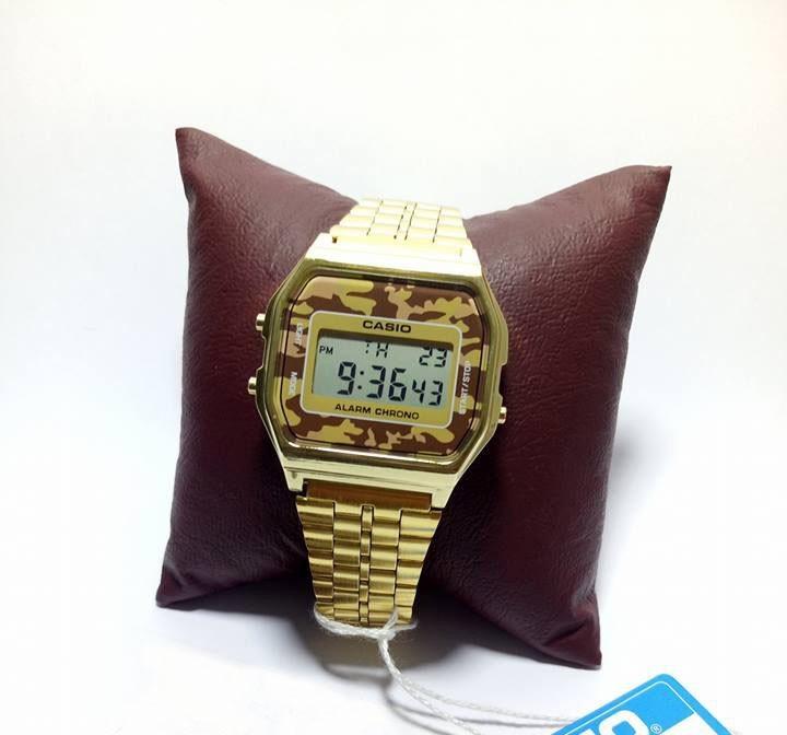 3e647be648fc Reloj Casio Dorado Camuflaje Militar Dorado Retro -   439.00 en ...