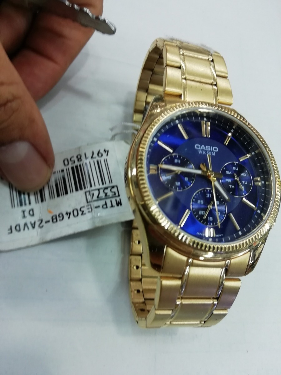 elegir oficial elegir oficial precio especial para Reloj Casio Dorado Hombre Mtp-304 Original
