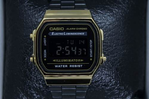 eff70f91135b Reloj Casio Dorado Negro A168 Retro Envio Gratis Vintage -   493.00 ...