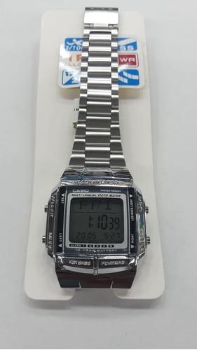 reloj casio dorado y plata db360 retro +caja sencilla