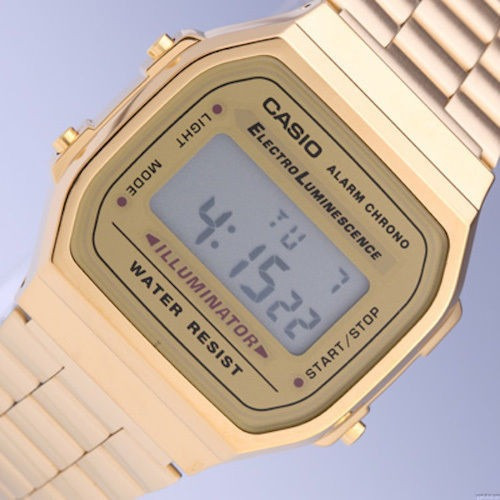 reloj casio dress digital mens watch a168wg9