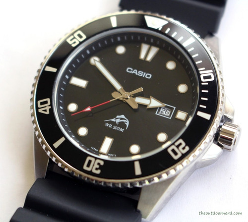 reloj casio duro mdv-106-1av acuático 200m en stock original