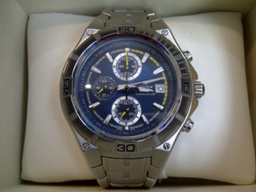Acero Inoxidable Casio Mod 4307 Edifice Reloj Crono P0wk8nO