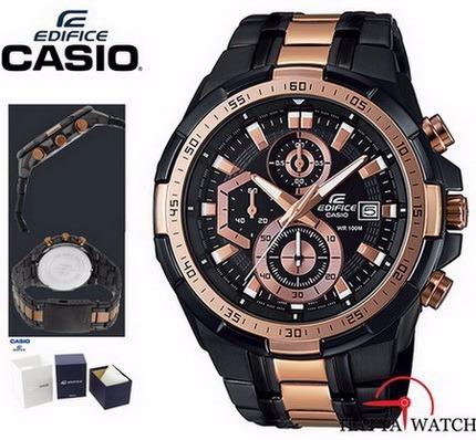 7a748d1803f1 Reloj Casio Edifice Cronógrafo Efr-539bkg-1av - 100% Nuevo - S  375 ...
