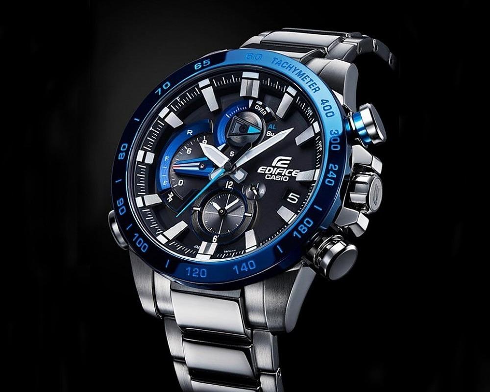 Edifice Eqb Reloj Casio Cronómetro 1a Bluetooth 800db Racing JucK1TlF3