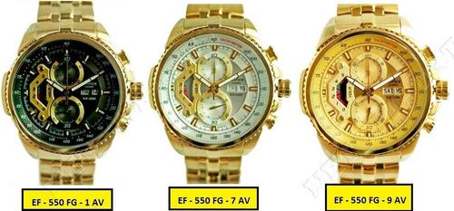 reloj casio edifice dorado ef-558fg - 7av - sellado original