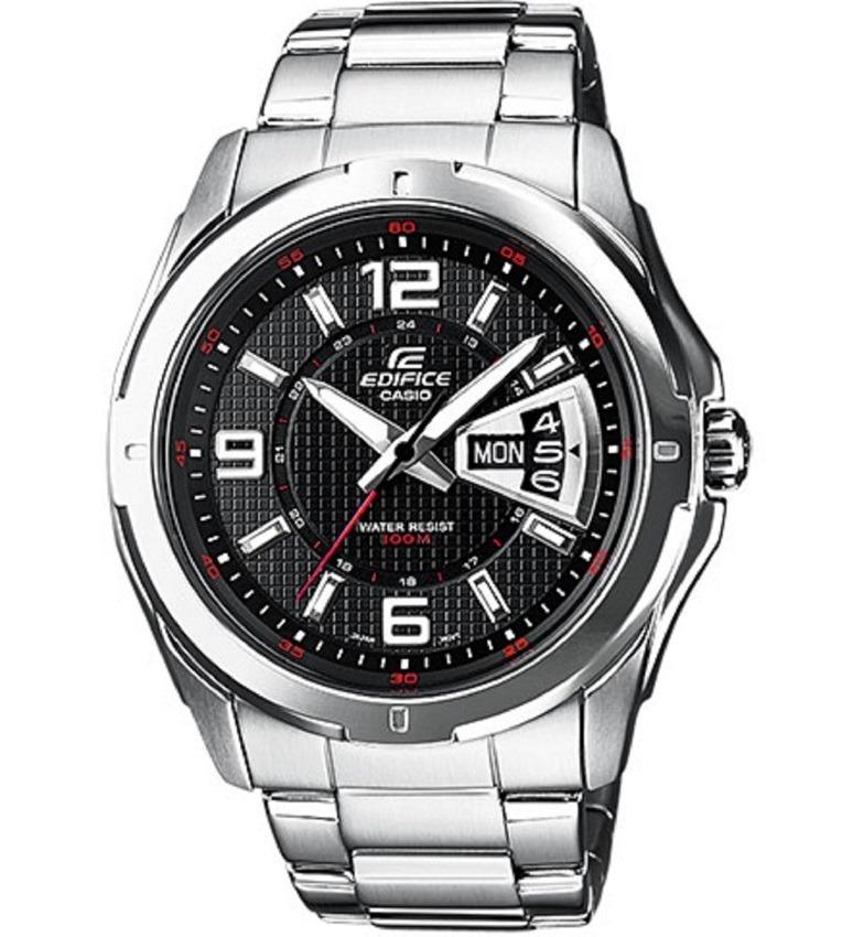 91864bf09331 reloj casio edifice ef-129d-1a plateado análogo para hombre. Cargando zoom.