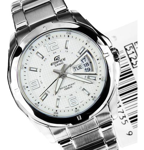 reloj casio edifice ef-129d calendario acero 100% original