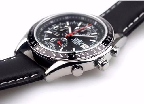 b23ce8b9cb Reloj Casio Edifice Ef-503l Cuero Chrono Wr 100m Liquidacion ...