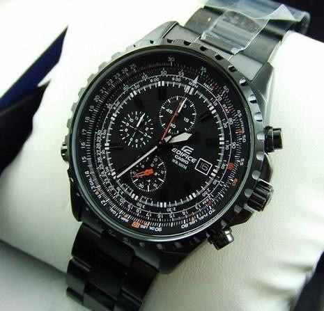 reloj casio edifice ef-527bk-1av - 100% nuevo y original