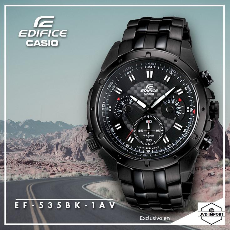 609adaaeeaa9 Reloj Casio Edifice Ef-535bk-1av - 100% Nuevo En Caja - S  329