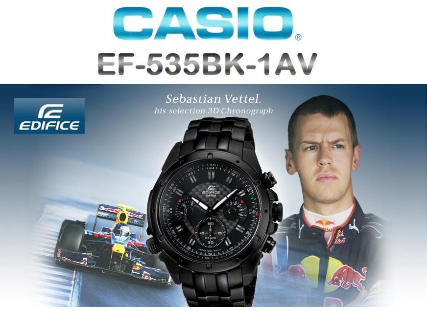 283e7b31de85 reloj casio edifice ef-535bk crono - ef535bk 1av ( 535 bk ). Cargando zoom.