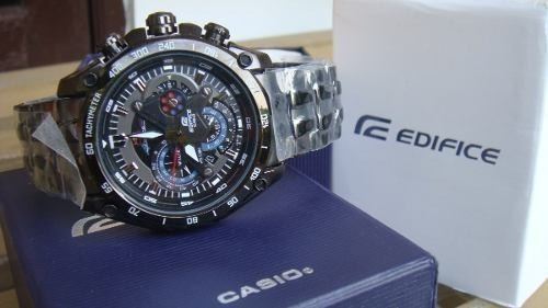 reloj casio edifice ef-550bkrb-1av black red bull 2018