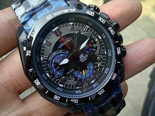 reloj casio edifice ef-550bkrb - negro - red bull - garantia