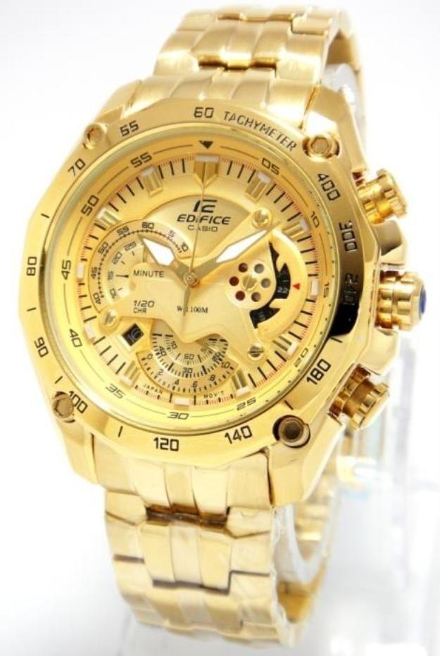 57de4326a09d reloj casio edifice ef-550fg dorado sellado original 2018. Cargando zoom.