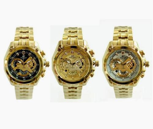 reloj casio edifice ef-550fg dorado sellado original 2018