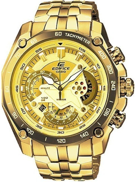 c117cae20c5c Reloj Casio Edifice Ef-550fg Dorado Sellado Original - S  319