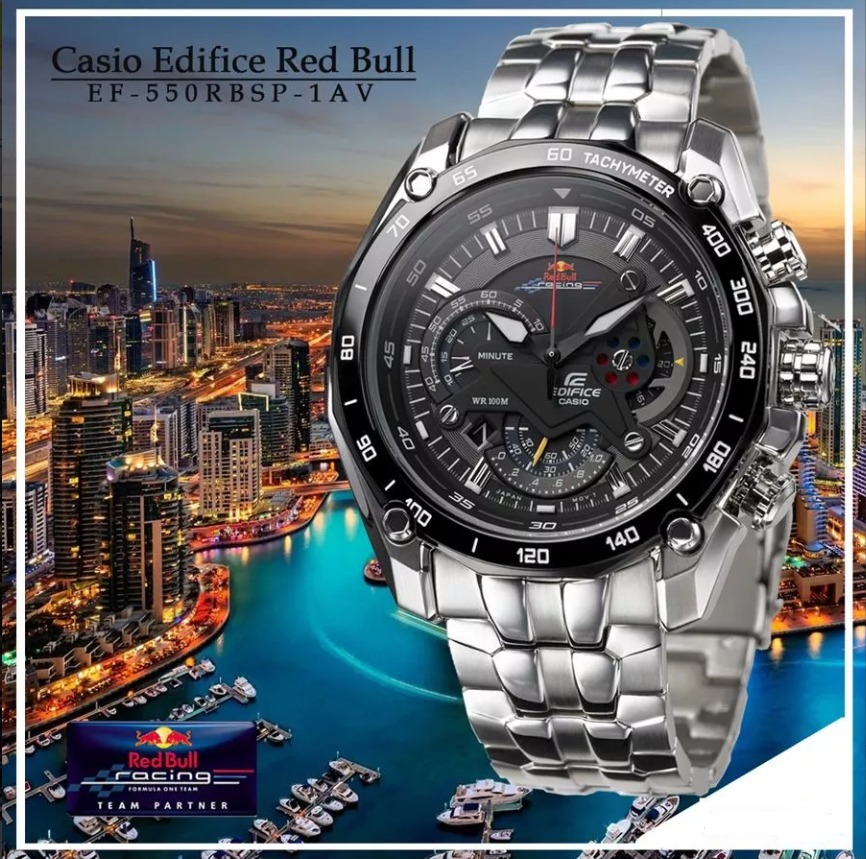 Ef Red Casio Edifice Bull 550rbsp 100Nuevo Reloj 1av QrCWdBxoe