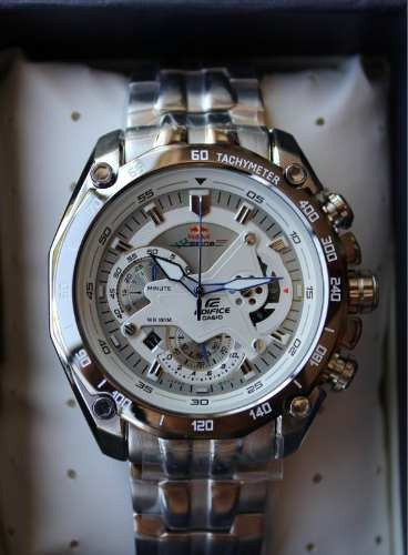 reloj casio edifice ef-550rbsp-7av red bull