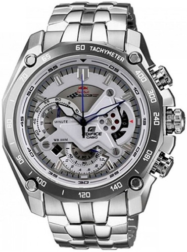 reloj casio edifice ef-550rbsp-7av white red bull