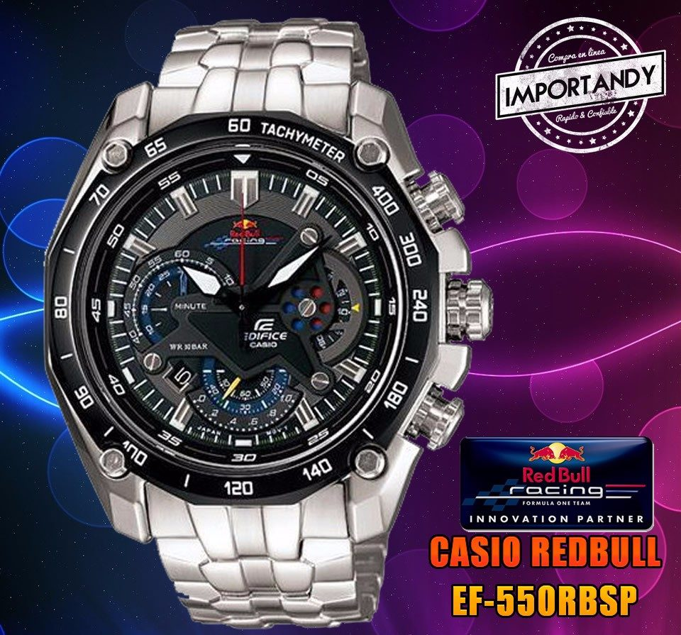 a854e02fa147 Reloj Casio Edifice Ef-550rbsp Red Bull Edition - 2015 ! - S  279