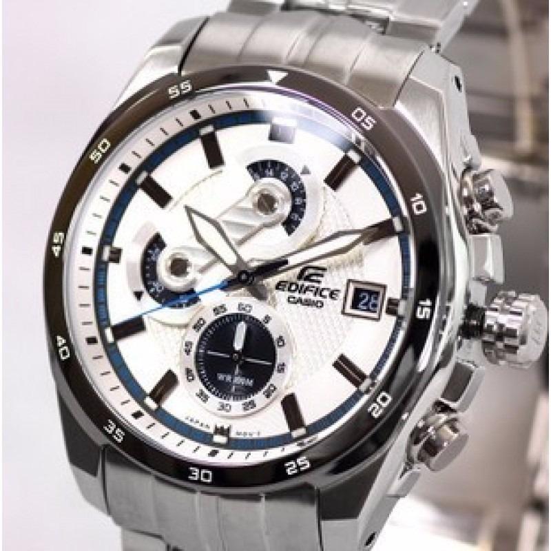 Reloj Casio Edifice Ef 557d Cronometro, Cristal Sumergible