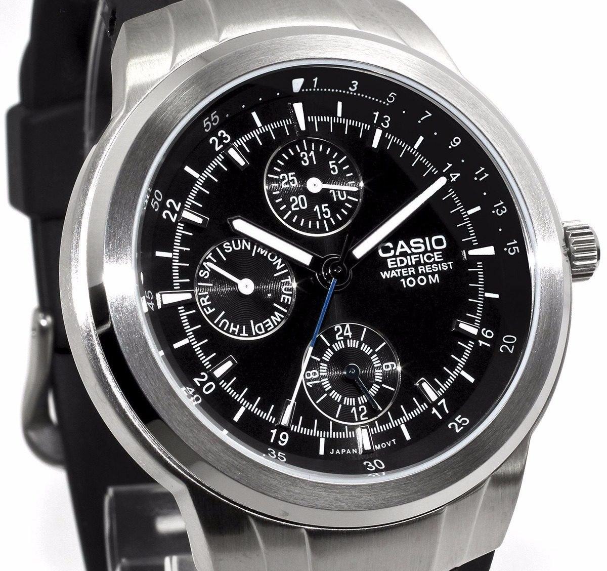 cce3bad6d5223 reloj casio edifice ef305 caucho triple fechador. Cargando zoom.