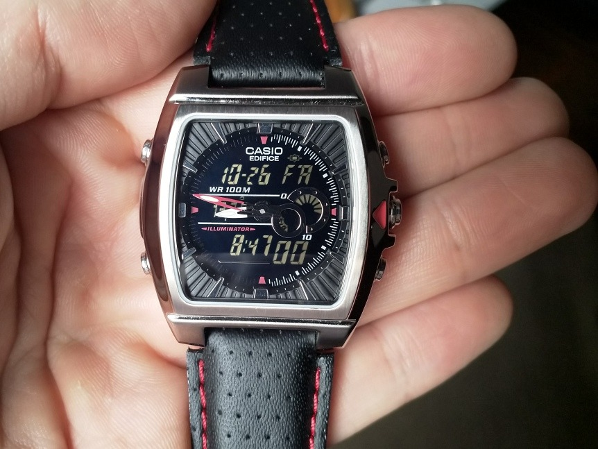 Edifice Casio 120 4334 Malla Cuero Reloj Efa XZuiPk