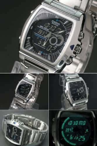 reloj casio edifice efa-120 cronografo termometro