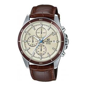 Reloj Casio Edifice Efr-526l Cronografo Cuero 100% Original