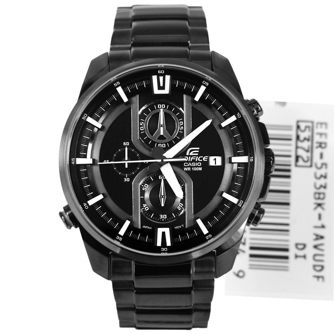 4fbb73e40074 reloj casio edifice efr-533bk -100% nuevo y original en caja. Cargando zoom.