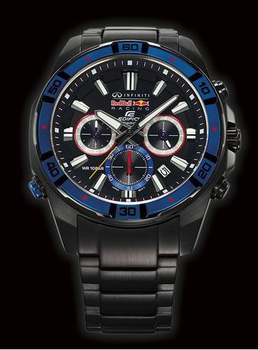 reloj casio edifice efr-534rbk-1aer - 100% nuevo y original