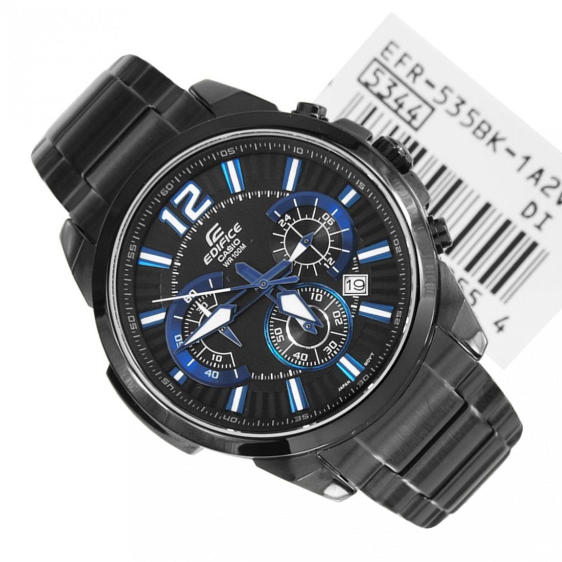 Casio 535bk Reloj Azul Tendencia 1a2 Men Negro Edifice Efr CtdxsBhQro