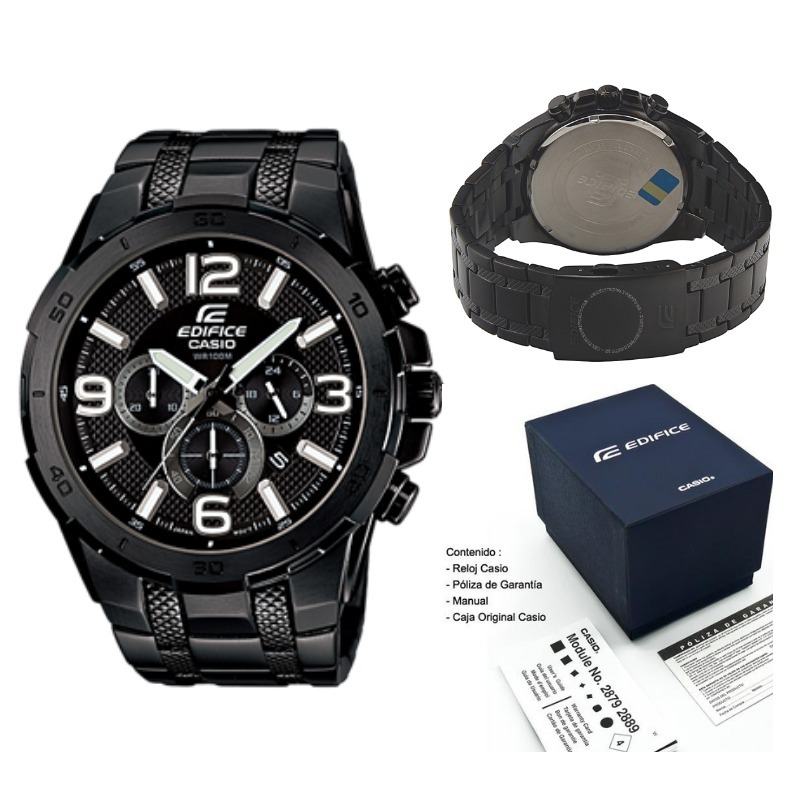 3a9330dbe0f2 reloj casio edifice efr 538-bk-1av original nuevo en caja. Cargando zoom.