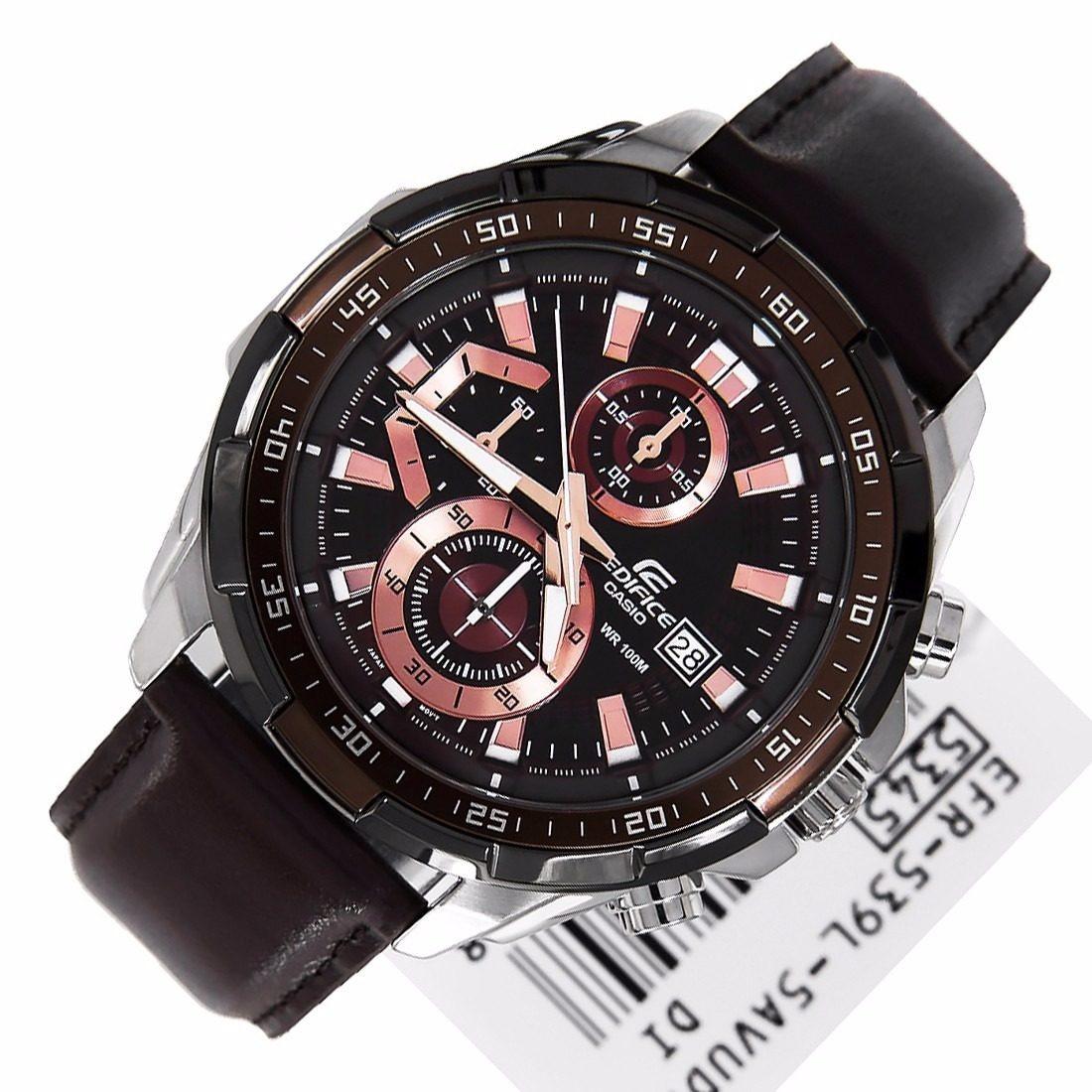 82cbfa46368f reloj casio edifice efr-539l-5av correa cuero - 100% nuevo. Cargando zoom.