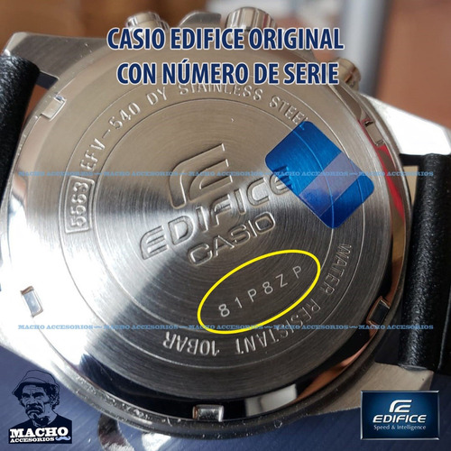 reloj casio edifice efr-552sg-2av numero de serie original