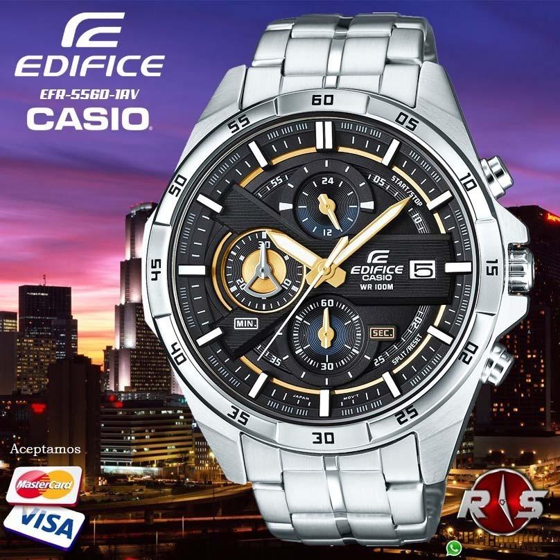 Reloj Casio Edifice Efr 556d 1av 100% Nuevo Y Original