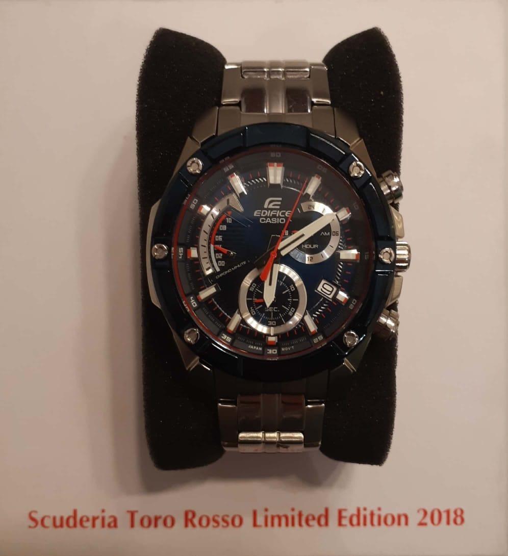 05723cef170d Reloj Casio Edifice Efr-559tr-2a Edición Limitada Toro Rosso ...