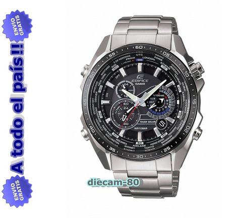 reloj casio edifice eqs-500 db-1a1 red bull cronómetro 1/100