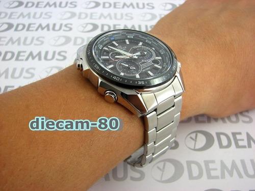 reloj casio edifice eqs-500 db-1a1 red bull cronómetro 1/100