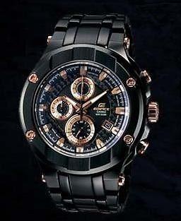 0390c13961cf Reloj Casio Edifice Gold Label Cronografo Efx-500bk-1av -   35.000 ...
