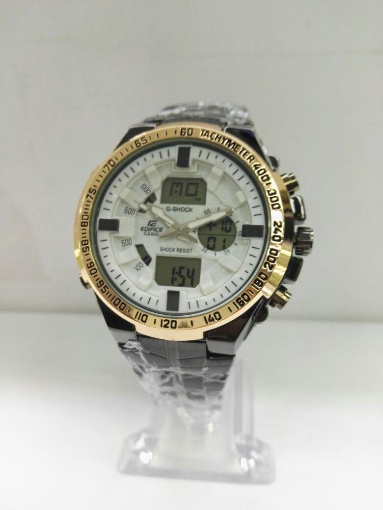 9de3a448b45a reloj casio edifice hombre acero elegante doble hora nuevos! Cargando zoom.