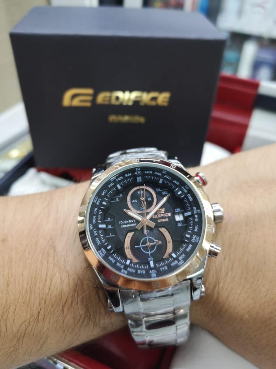 e39d270e9566 reloj casio edifice hombre clasico nuevo acero funciona 100%. Cargando zoom.