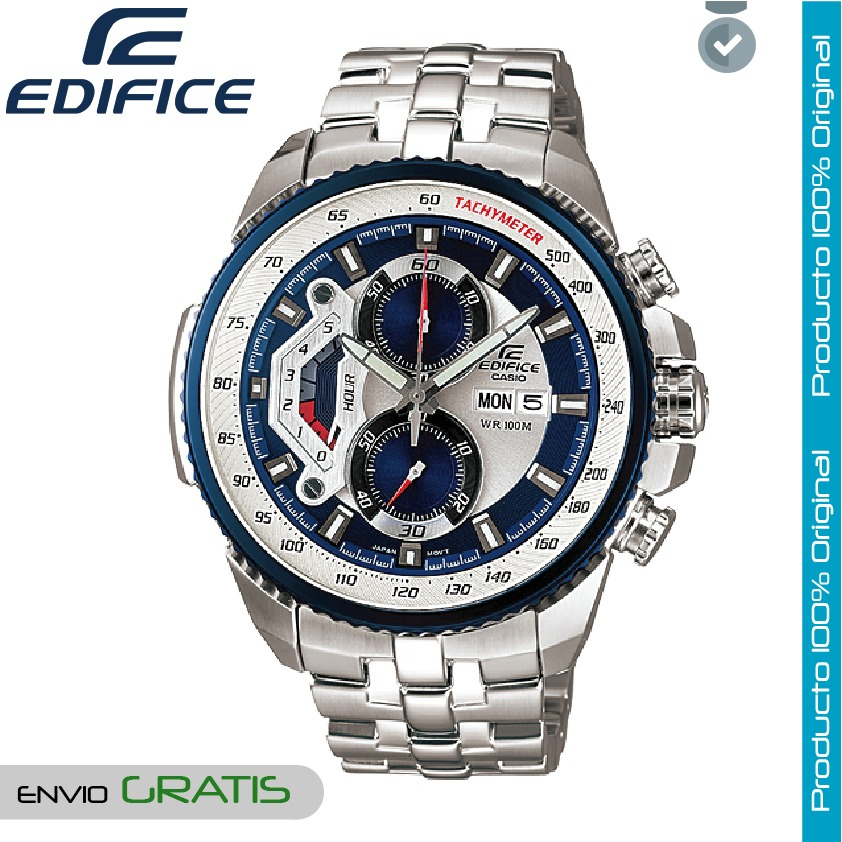 ce9bb79776de Reloj Casio Edifice Hombre Ef-558d-2a Cronografo - Azul -   449.900 ...
