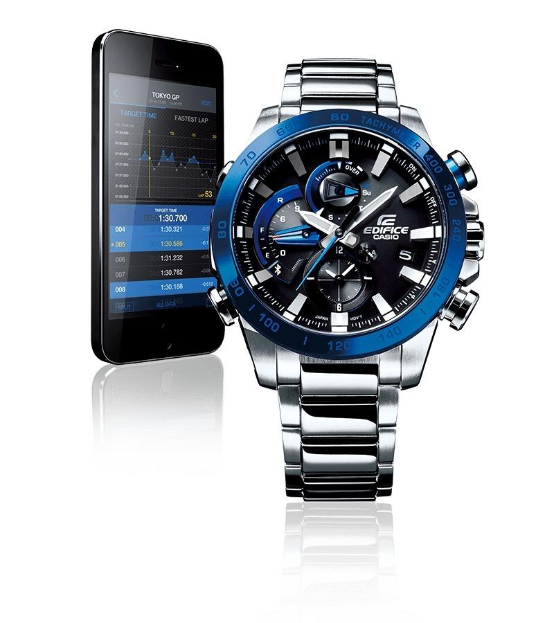 03704fe381b4 reloj casio edifice link with smartphone eqb-800 eqb-800db. Cargando zoom.